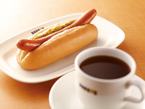 ブレンドコーヒーとジャーマンドッグの画像
