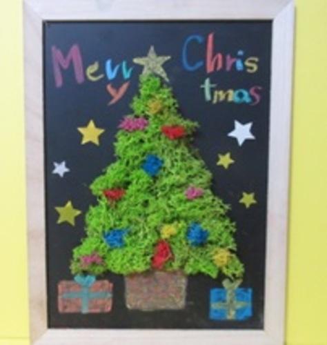 クリスマス華やかアレンジメントワークショップ~モス3Dチョークアート~
