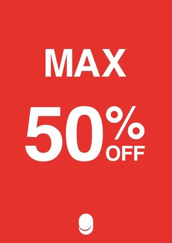 MAX50%OFF